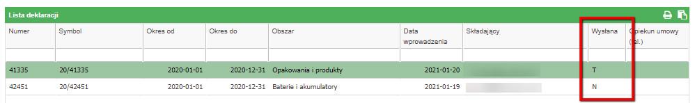 Status deklaracji w Portalu kontrahenta - Grupa TOM