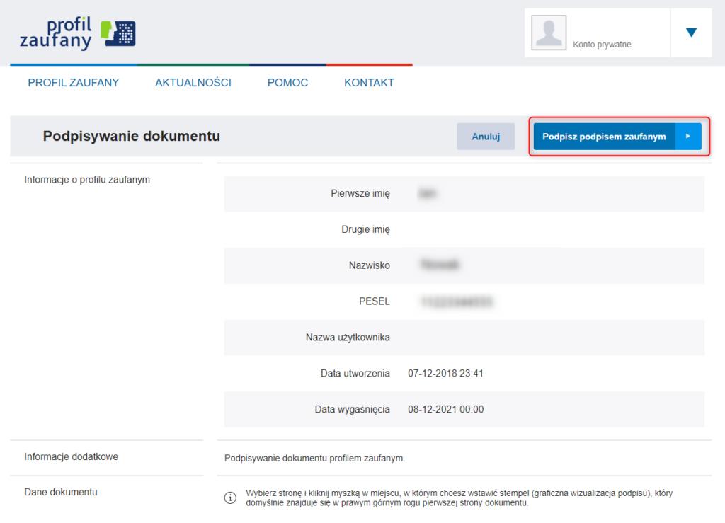 Potwierdź podpisanie załaczonego pełnomocnictwa dla organizacji odzysku opakowań TOM-DOLEKO-EKOLA